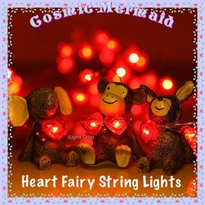 Other - 🆕⭐️ Red Heart Shaped String Lights ⭐️